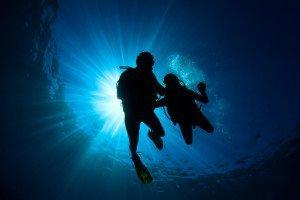 practice scuba diving